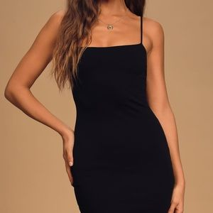 Lulus Flaunt it Black Mini Dress